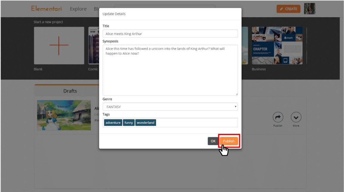 publish form